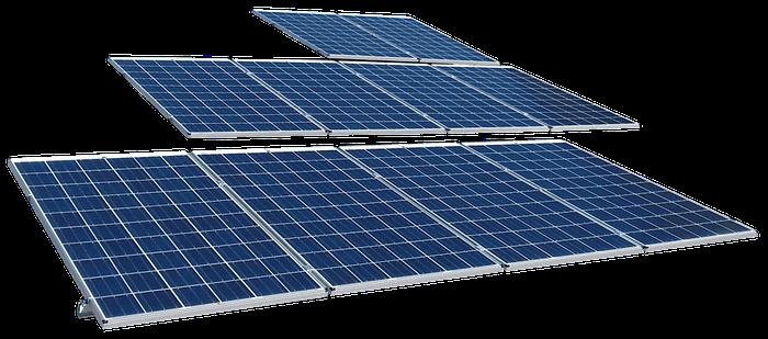 Paneles de sistemas fotovoltaicos industriales
